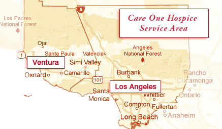 Care One Hospice Service Area Map