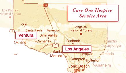 Care One Hospice Service Area Map
