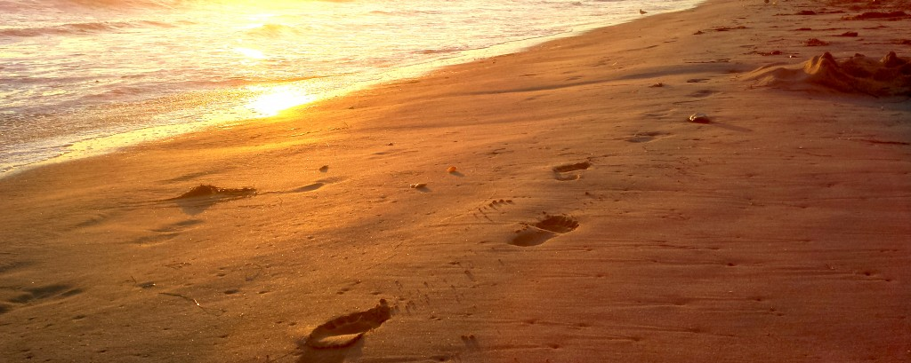 Footsteps in the sand